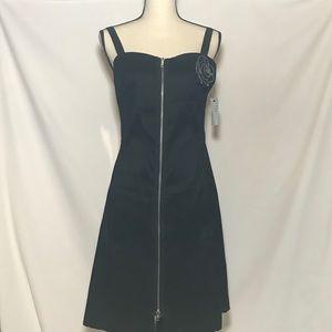 Black After-five Dress Front Zipper